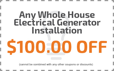 Any Whole House Electrical Generator Installation $100.00 Off