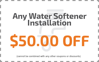 Any Water Softener Installation $50.00 Off
