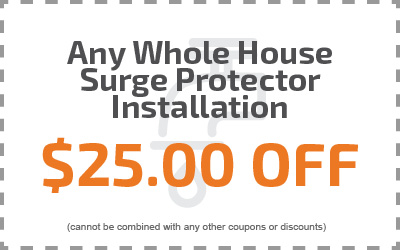Any Whole House Surge Protector Installation $25.00 Off