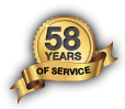 57 Years of Service